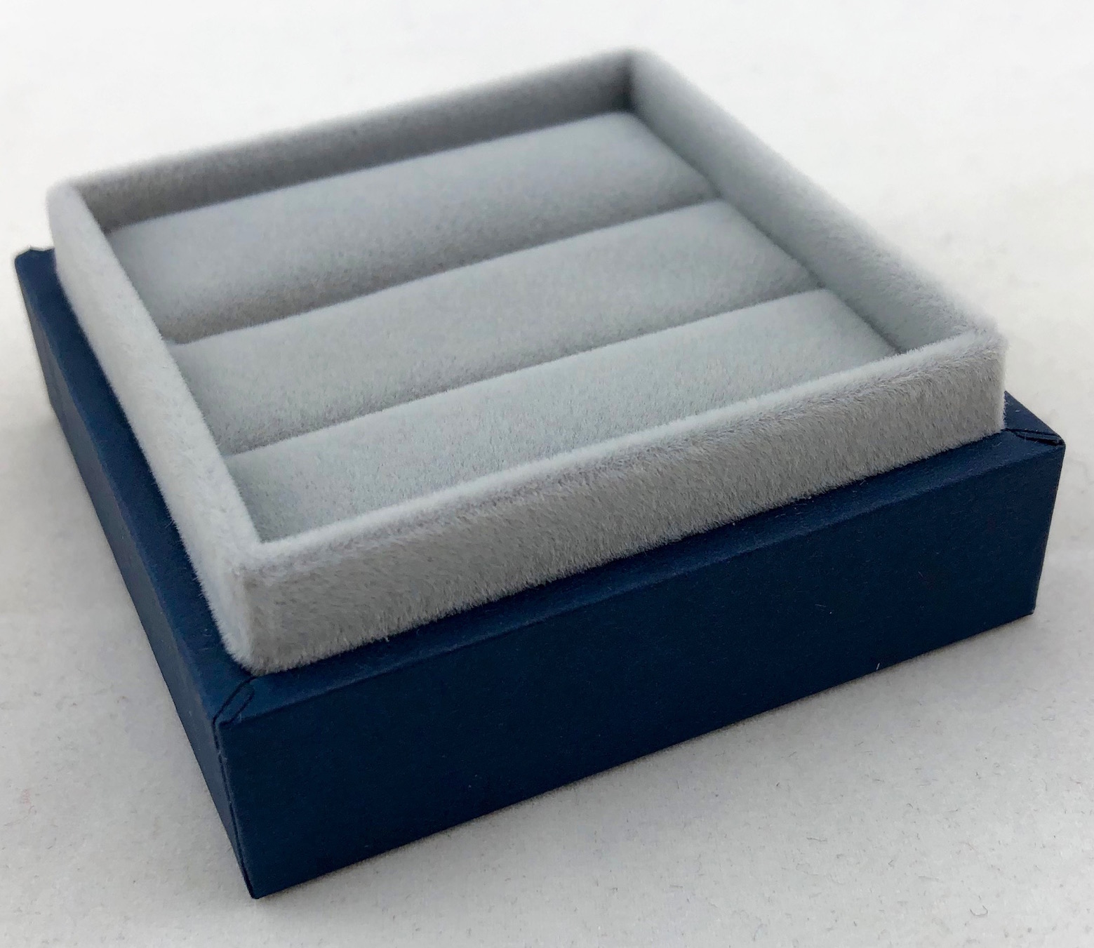 New Blue Envy Double Ring Box