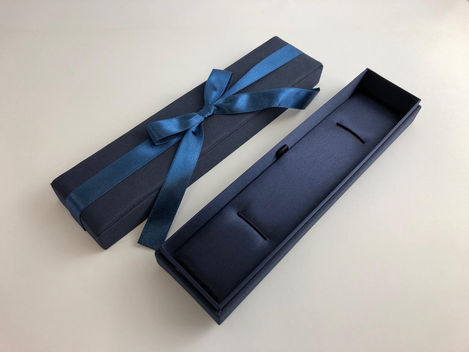 Blue Ribbon Bracelet Box