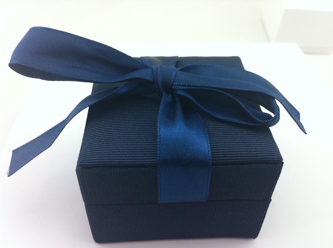 Blue Ribbon Ring Box