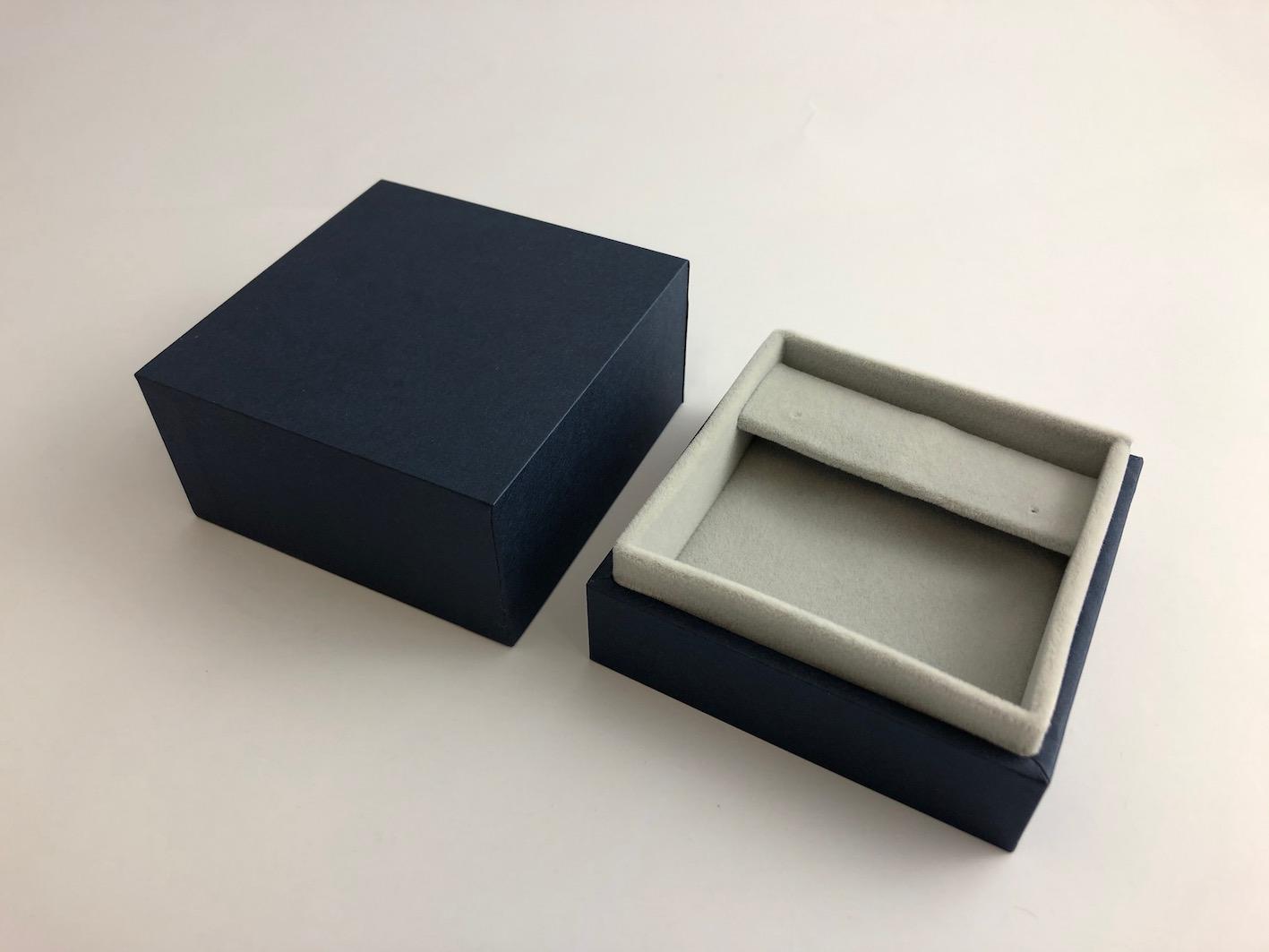 Navy blue jewellery box