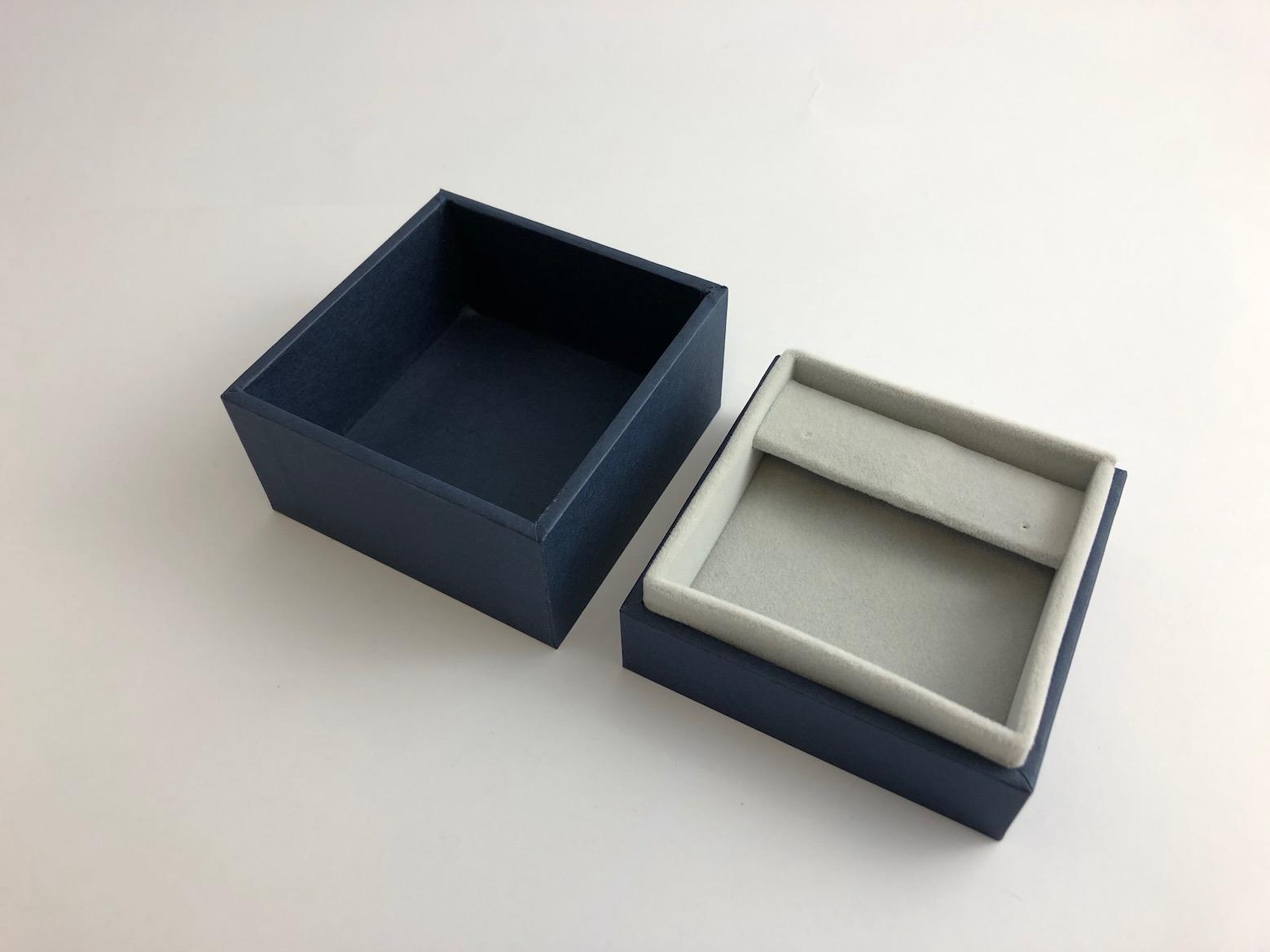New Blue Envy Large Drop Earring Box