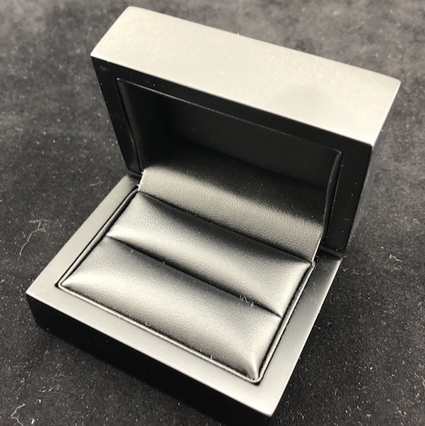 Midnight Elegance Double Ring Box with 2 piece packer