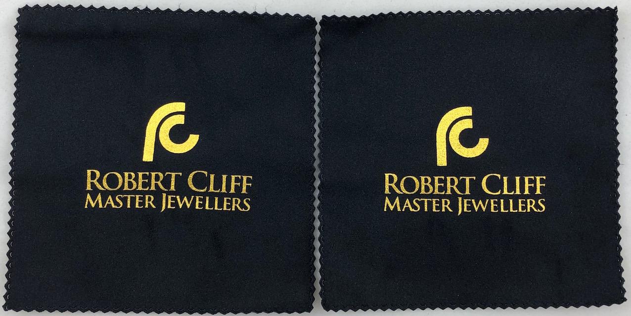 Black polishing cloths 13cm square