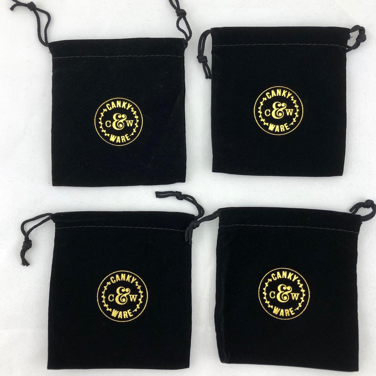 Black square pouch