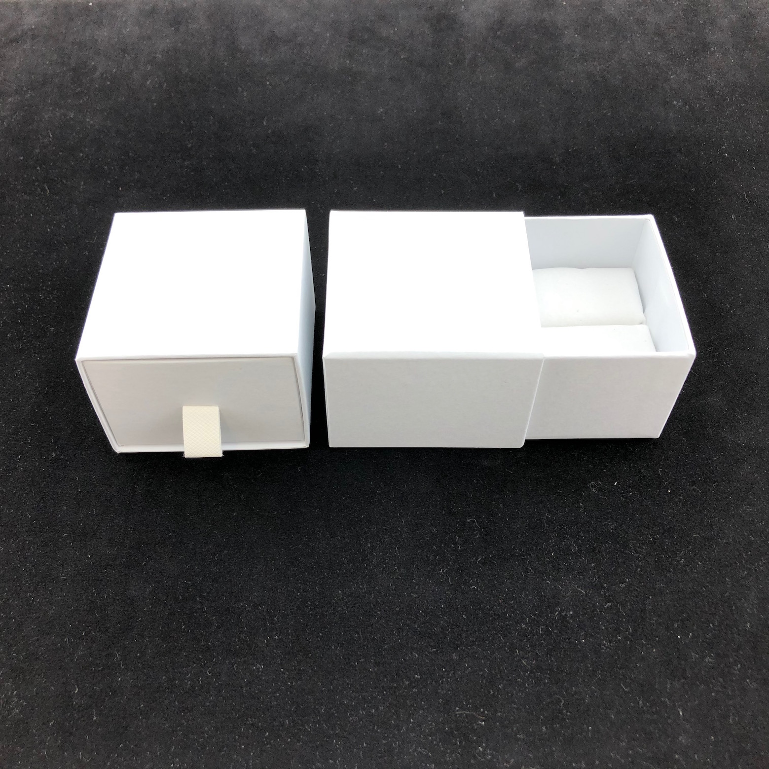 White drawer ring box