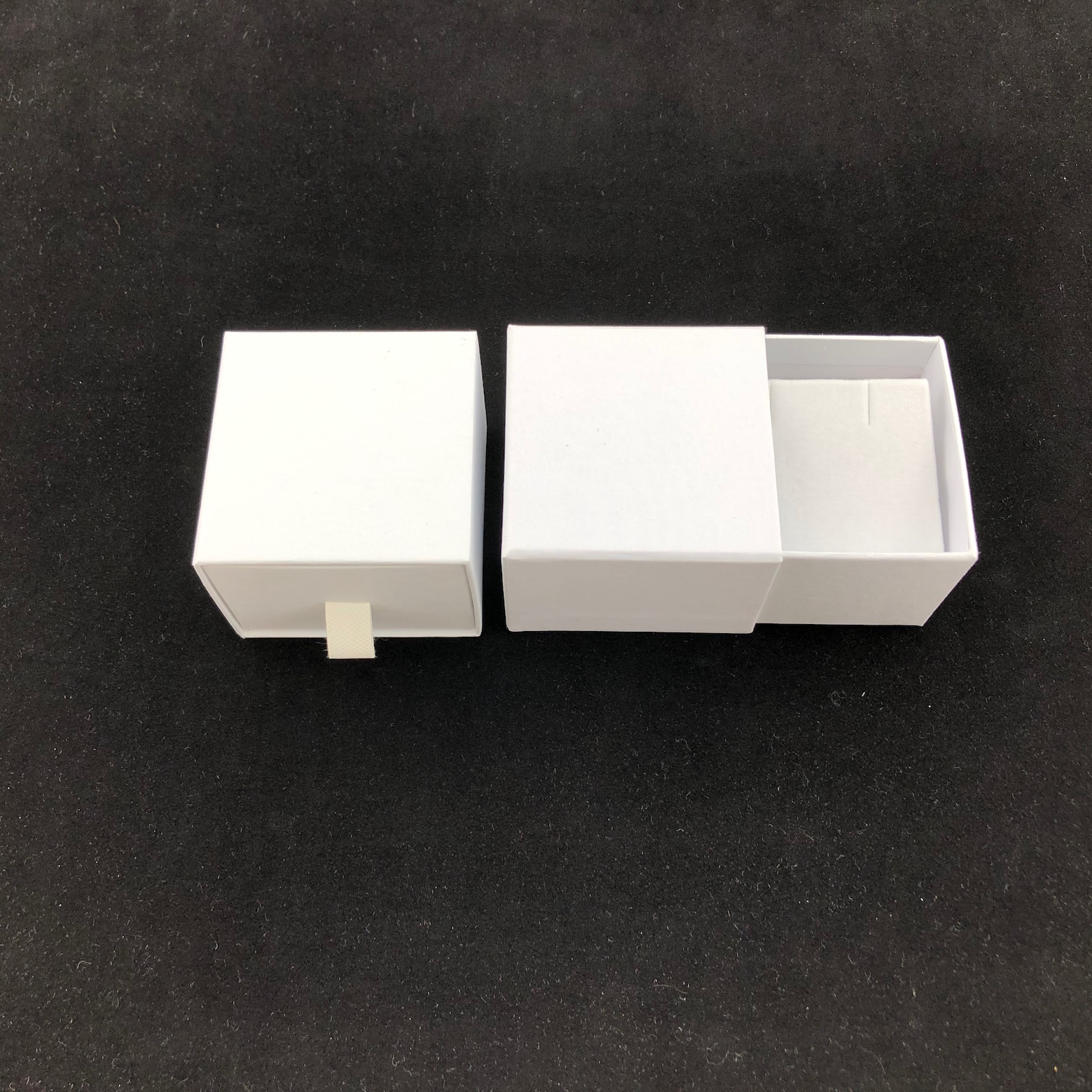 White cardboard earring box