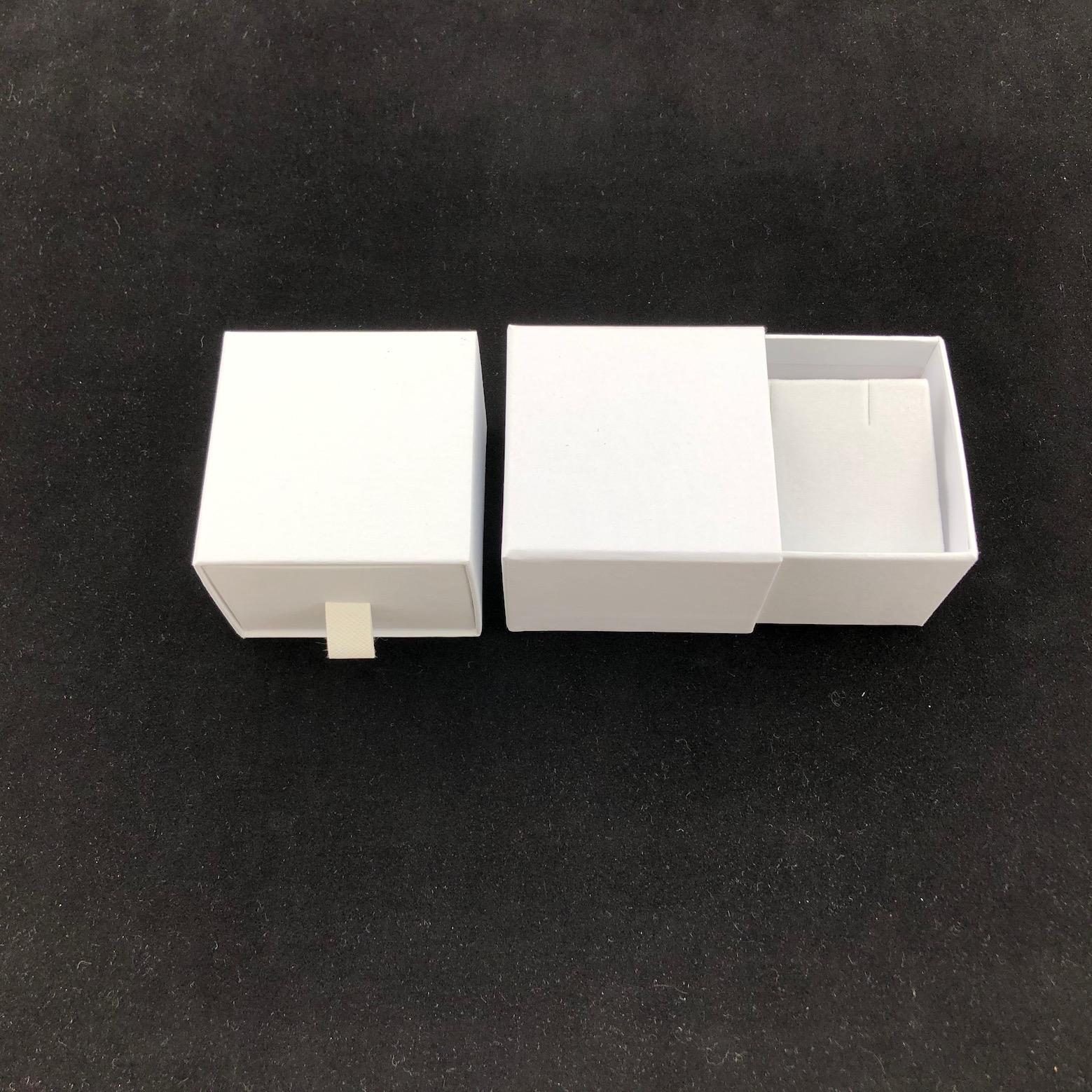White cardboard earring box