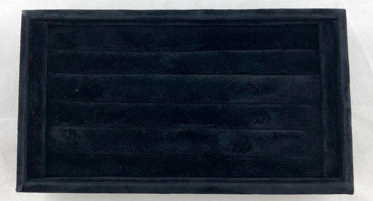 Black Suede Roll Ring Tray (Extra Small)