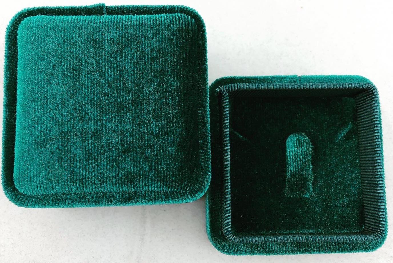 Green Velvet Ring Box (Slot)