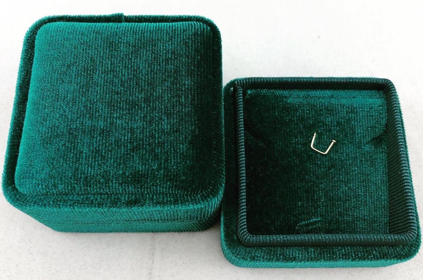 Green Velvet Pendant Box