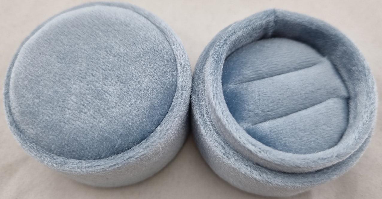 Blue Velvet Double Ring box