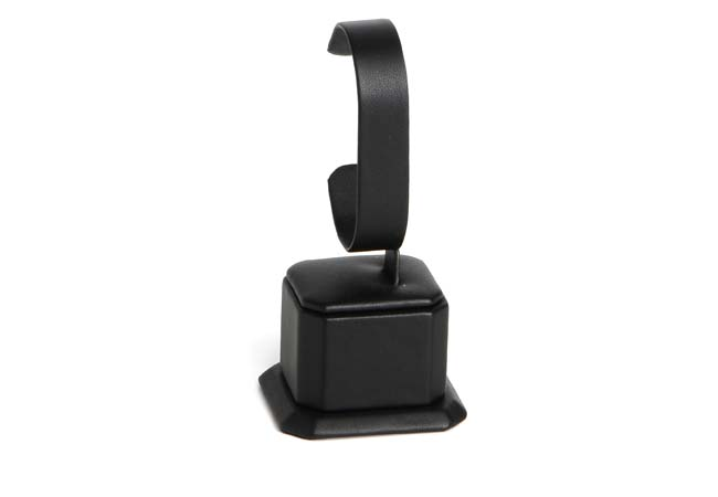Square Bangle Stand (Black Leatherette model displayed in the photo)
