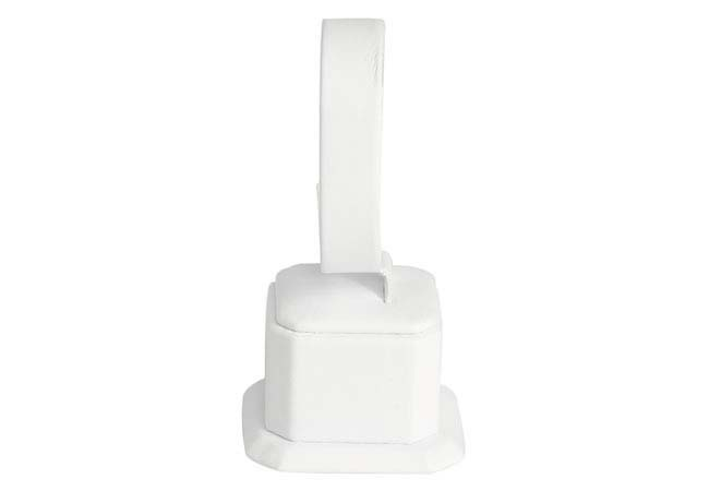 Square Bangle Stand (White Leatherette model displayed in photo)