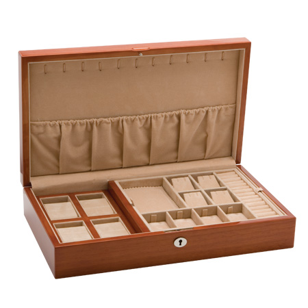 Large Jewellery Collection Case (Dark Tan)