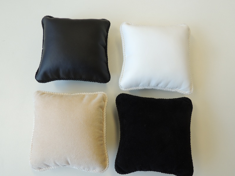 Black Leatherette Jewellery Display Pillow
