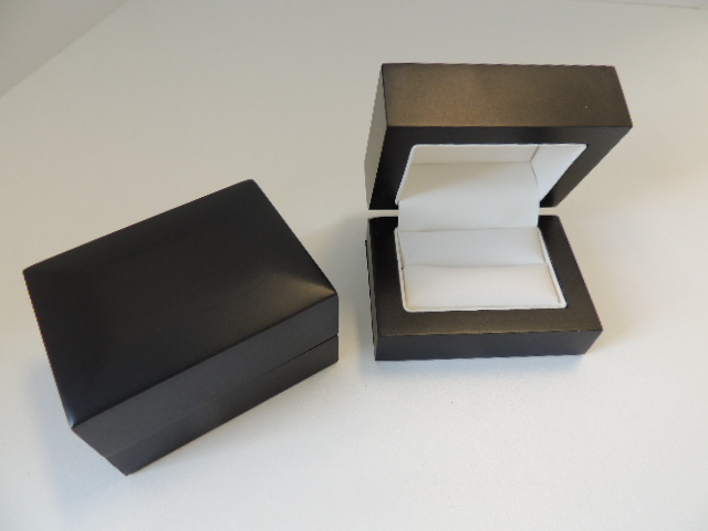 Black Storm Wide Ring/ Cufflinks Box