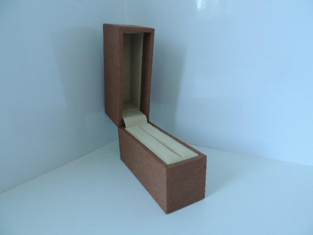 Brown Suede & Light Brown Suede Slot Bangle Box (BG2)