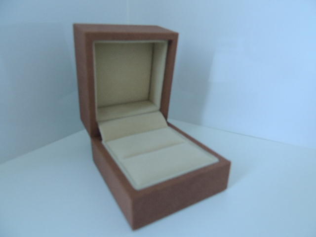 Brown Suede Ring/ Light Brown Suede Ring Box
