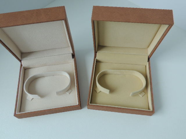 Brown Suede & Light Brown Suede Bangle Box (BG1)