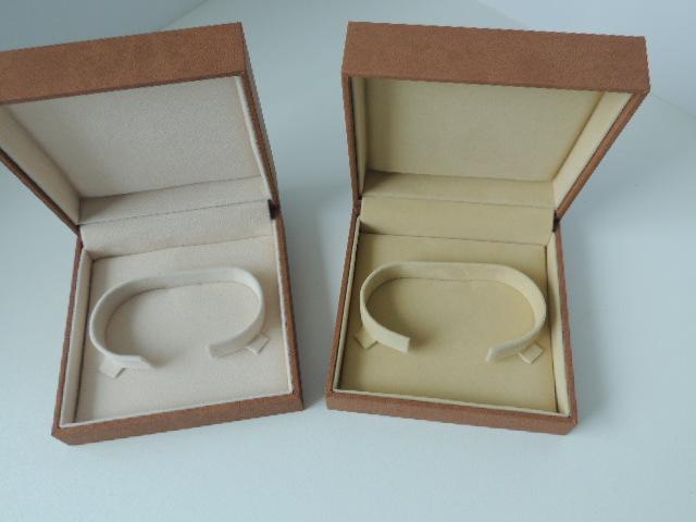 Brown Suede & Light Brown Suede Bangle Box (BG1)