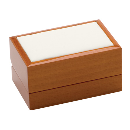 Luxury Leather Double Ring Box Closed