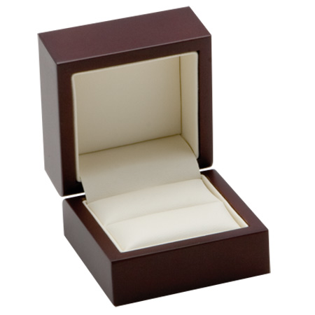 Luxury Timber Ring Box Open