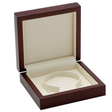 Luxury Timber Bangle Box Open