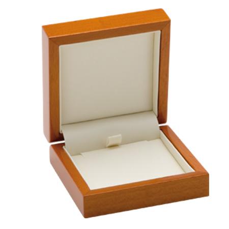 Luxury Leather Pendant Box Open