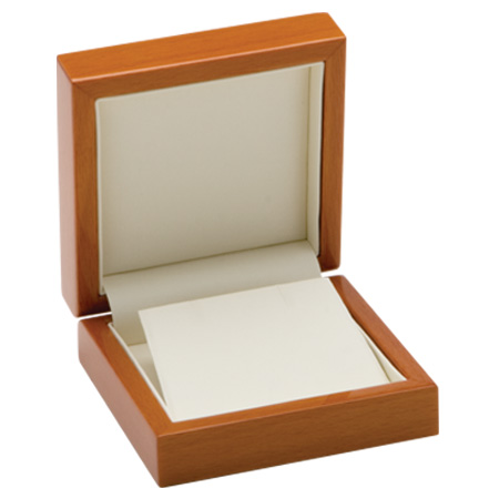 Luxury Leather Earring Box Open