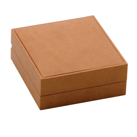 Brown Suede Earring Box (closed)