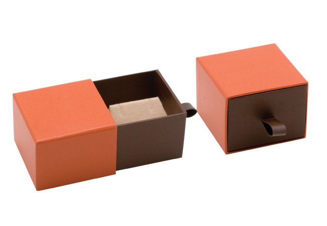 Orange Vogue Earring Box