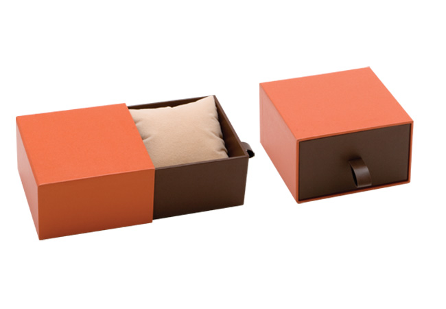 Orange Vogue Bangle/ Watch Box
