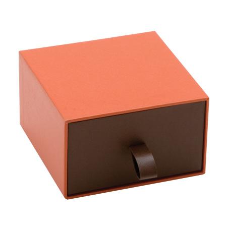 Orange Vogue Bangle or Watch Box