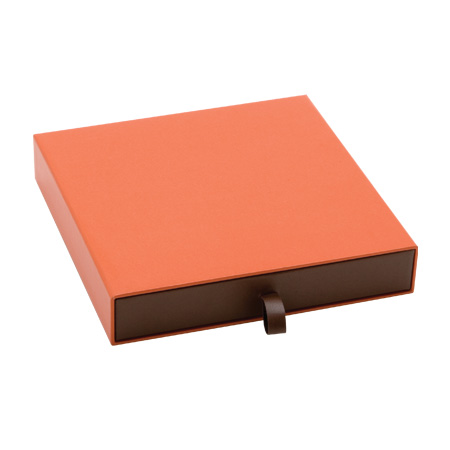 Orange Vogue Large Necklace Box