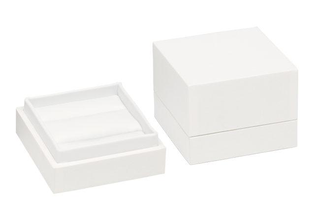 White Envy Double Ring/ Cufflinks Box