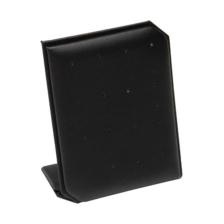 Black Leatherette Stud Earring Stand