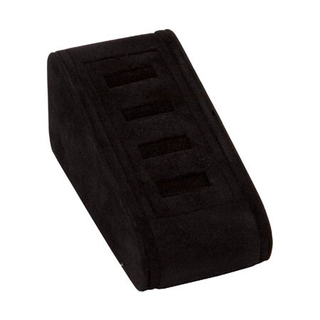 Multiple Ring Stand (Black Suede) (4)