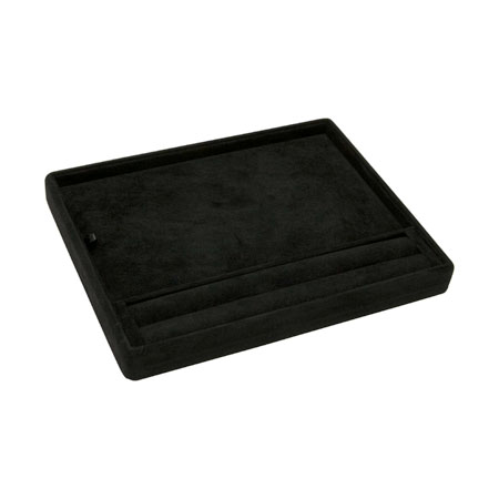 Black Suede Slot Layout Tray (Small)