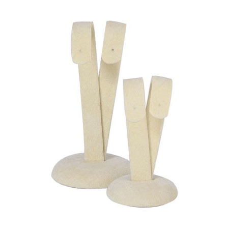 Camel Suede Drop Earring Stand