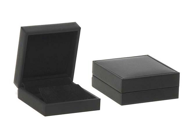 Black Suede Earring Box
