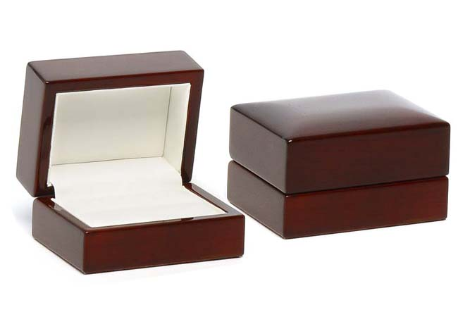 Traditional Elegance Double Ring/ Cufflinks Box