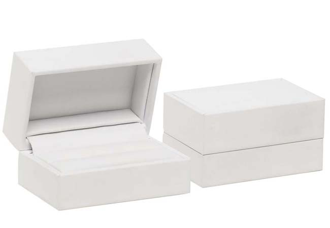 Pure White Double Ring/ Cufflinks Box
