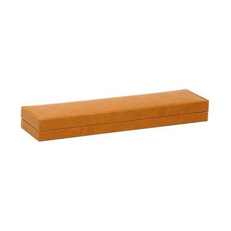 Brown Suede Bracelet Box - closed