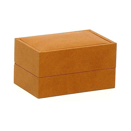 Brown Suede Double Ring Box (closed)