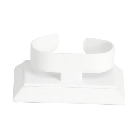Horizontal Bangle Stand (White Leatherette)