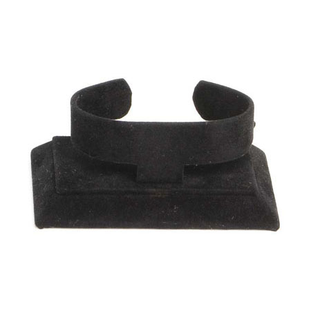 Black Suede Bangle Stand