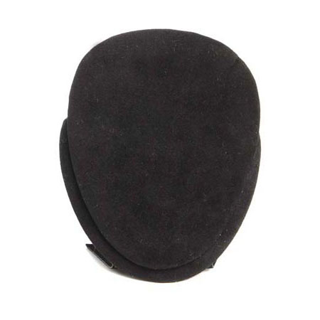 Black Suede Oval Pendant Stand