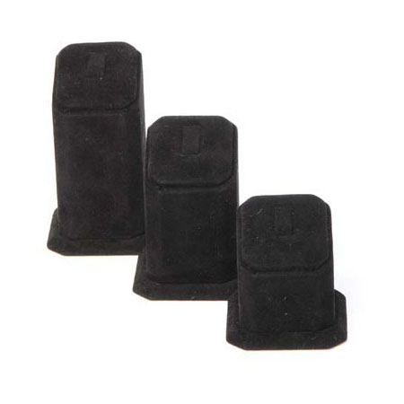 Traditional Ring Stand Medium - Black Suede