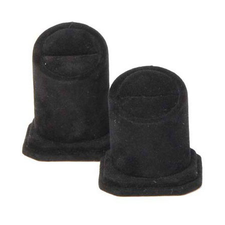 Slot Ring Stand (Black Suede)