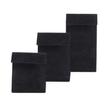 Black Suede Modern Earring Stand (large)
